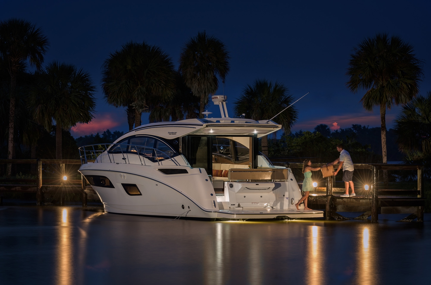 New Boat Brochures 2017 Sea Ray Sundancer 400 Marine House Battery Wiring Specifications